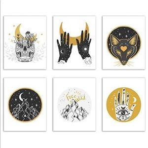 Spiritual Occult Prints - Set of 6 (8x10 Inches)